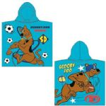 Scooby Doo Sports Light Blue Hooded Poncho Towel